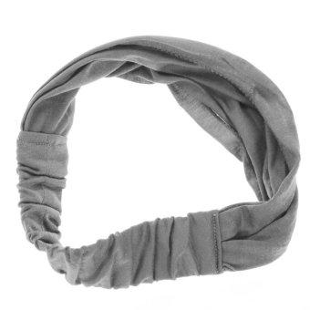 Women's Multi-function Elastic Head Band Scarf Neck Headband Wrap kerchief Hat Gray - intl