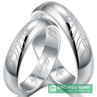 Nhẫn đôi Bạc Hiểu Minh nc403 chúa tể của những chiếc nhẫn