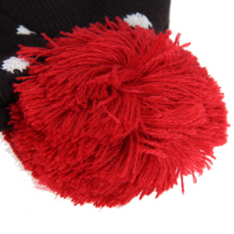 Winter Warm Knitted Fuzzy Ball Hat Beanie Ski Cap w/ LED Snowman (Intl)