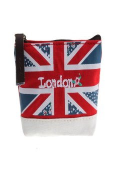 HKS Union Jack Embroidered Admission Package Canvas Coin Purse Hand Bag - intl