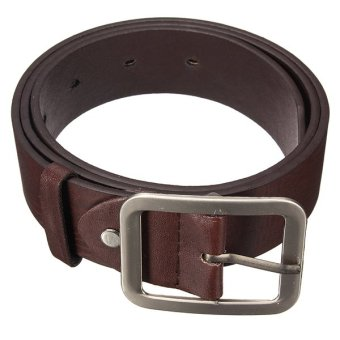 Bluelans Men's Waistband PU Leather Pin Buckle Waist Strap Business Belt (Coffee) (Intl)
