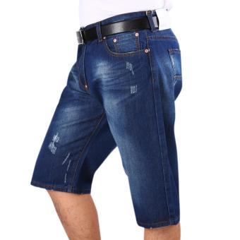 New Fashion Mens Casual Blue Denim Jeans - intl