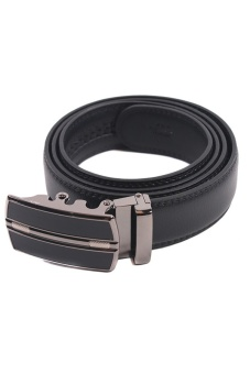 Lalang Genuine Leather Auto Buckle Belt Black