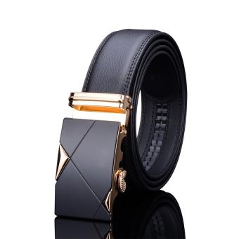 Thắt lưng da nam cao cấp Hanama TG001 (Vàng)