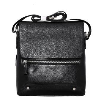 Túi dây đeo chéo nam da bò thật màu đen ETM359