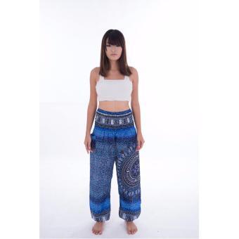 Quần MIDNIGHT BLUE COMPASS HAREM PANTS xanh đậm có túi size S