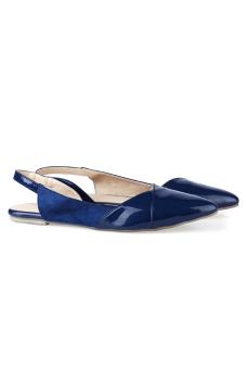 Giày búp bê nữ LARA HMF6813 (xanh)