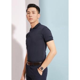 Áo phông Polo tím than tối
