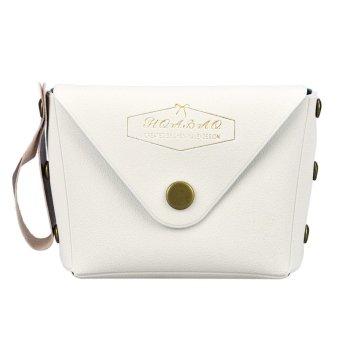 Student Macaron Bow Serie Fashion Change Purse White