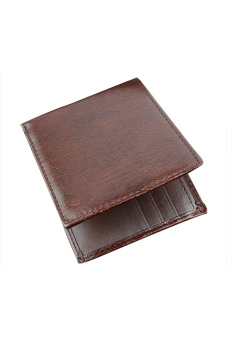 Synthetic Leather Wallet (Brown) - Intl