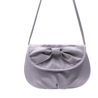 Women Bag Shoulder Bowknot Satchel Body Tote Handbag Purple - intl