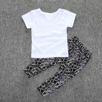 1Set Newborn Baby Boys Infant Clothes T-shirt Tops+Long Pants Outfits - intl