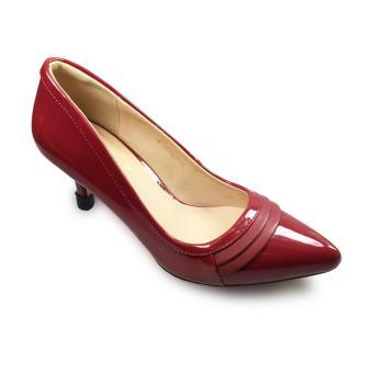 Giày bít nữ cao gót 7f mũi sếp li