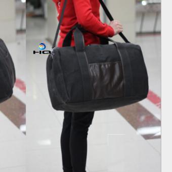 Túi du lich cỡ đại phối da phong cách Hàn Quốc 81TU39(đen)