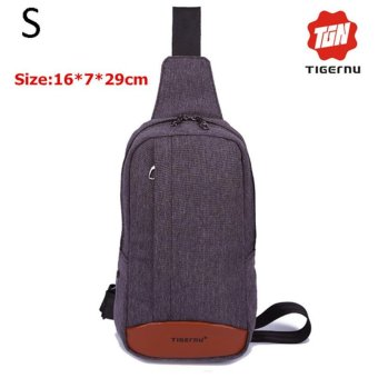 Lan-store Premium Quality Chest Bag-2017 Tigernu Brand Messenger Bags Casual Men's Travel Bags Chest Bag Pack Small Crossbody Men Women Shoulder Bag (Dark grey) - intl
