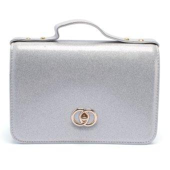Túi nữ hộp Kim tuyến Happy F MS.137.2 (Bạc)