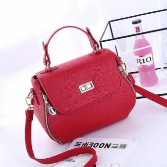 Túi xách nữ hộp vuông quai đứng MT02 (Đỏ)