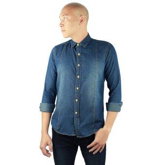 Áo sơmi nam denim Circle _ MSM08 (Xanh jeans)
