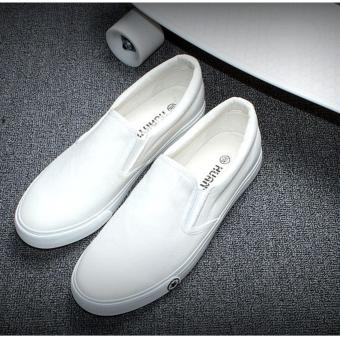 Giày lười nam - CV02 (Trắng )