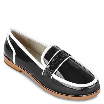 Giày Mọi Da Bóng Viền Trắng