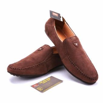 Giày lười nam da thật cao cấp chính hãng Da Giày Việt Nam VNL3AZ25N-2 (Nâu )