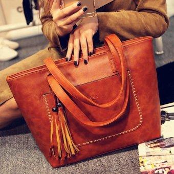Korean Woman's Messenger Bag PU Leather Change Purse Shoulder Bag Handbag - intl