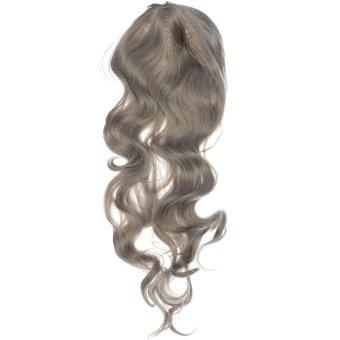 Costume Womens Long Curly Grey Wavy Hair Cosplay Anime Full Wigs 80CM Halloween NEW - intl