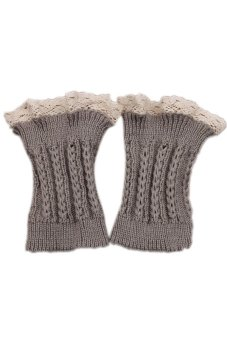 Lalang Knitted Leg Warmers Light Grey - Intl