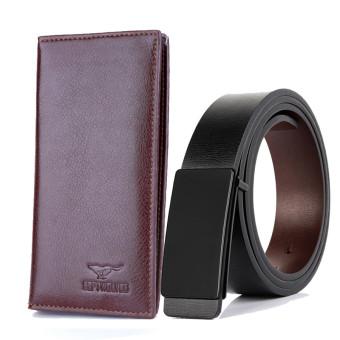Bộ đôi thắt lưng da nam MP01 và ví da cầm tay septvolwes