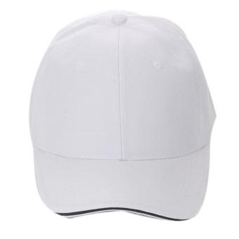 Unisex Plain Baseball Sport Cap Blank Curved Visor Hat White