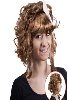 Bộ tóc giả xoăn ngắn kèm ruy băng UBL