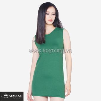 Đầm Sát Nách Dáng Suông Trơn SoYoung DRESS 0065C GR