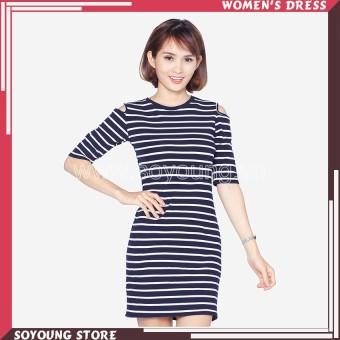 Đầm Dài Ôm Tay Lỡ Khoét Vai Soyoung Dress 0070C D