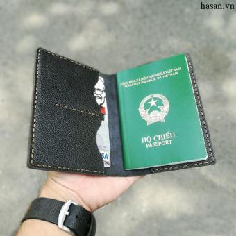 Ví passport handmade da thật cao cấp (Đen)