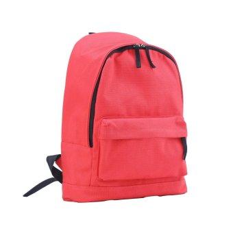 niceEshop Casual Shoulder Bag Solid Color Backpack (Red, Canvas) - intl