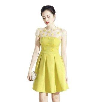Váy nữ ngắn xòe Yến Đạt (Vàng)