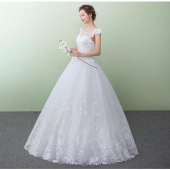 Áo cưới xoè mới nhất 2017, ren hoa 3D