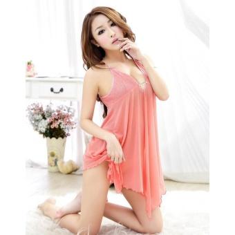Váy Ngủ Ren Bách Tiên CDAN22 Kim Phát (cam)