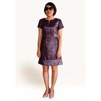Đầm ánh kim metalic OYO FASHION (tím)