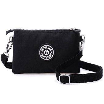 Waterproof Nylon Handbag Shoulder Diagonal Bag Messenger Black - intl