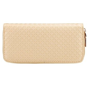 Linemart New Women Clutch Wallet Long Card Holder Case Purse Wallet ( Gold ) - intl