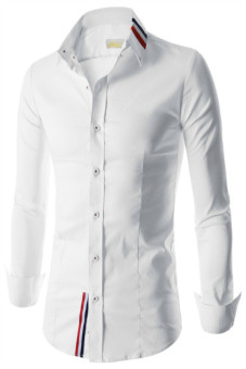 Reverieuomo CS41 Single-Breasted Shirt (White) - Intl