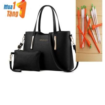 Bộ túi và ví thời trang BTS-SWEET1(ĐEN)+KÈM QUÀ
