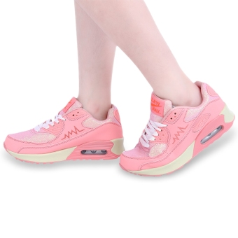 Casual Color Block Patchwork Design Sports Shoes(Pink) - intl