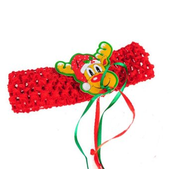 New Cute Christmas X'mas Hair Clip Headbands Accessories Party Decoration Gift Red Christmas elk - intl