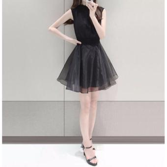 Đầm xòe ren eo thời trang