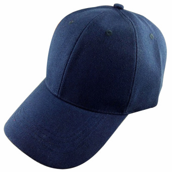 Men Women Outdoor Baseball Caps Adjustable Sun Visor Hat Navy blue - intl