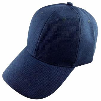 Men Women Outdoor Baseball Caps Adjustable Sun Visor Hat Navy blue - intl