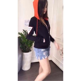 Áo Khoác Hoodie nữ - áo nỉ nữ- áo da cá-DaCa3Mau