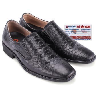 HL7195 - Giày tây Huy Hoàng vân da trăn màu đen